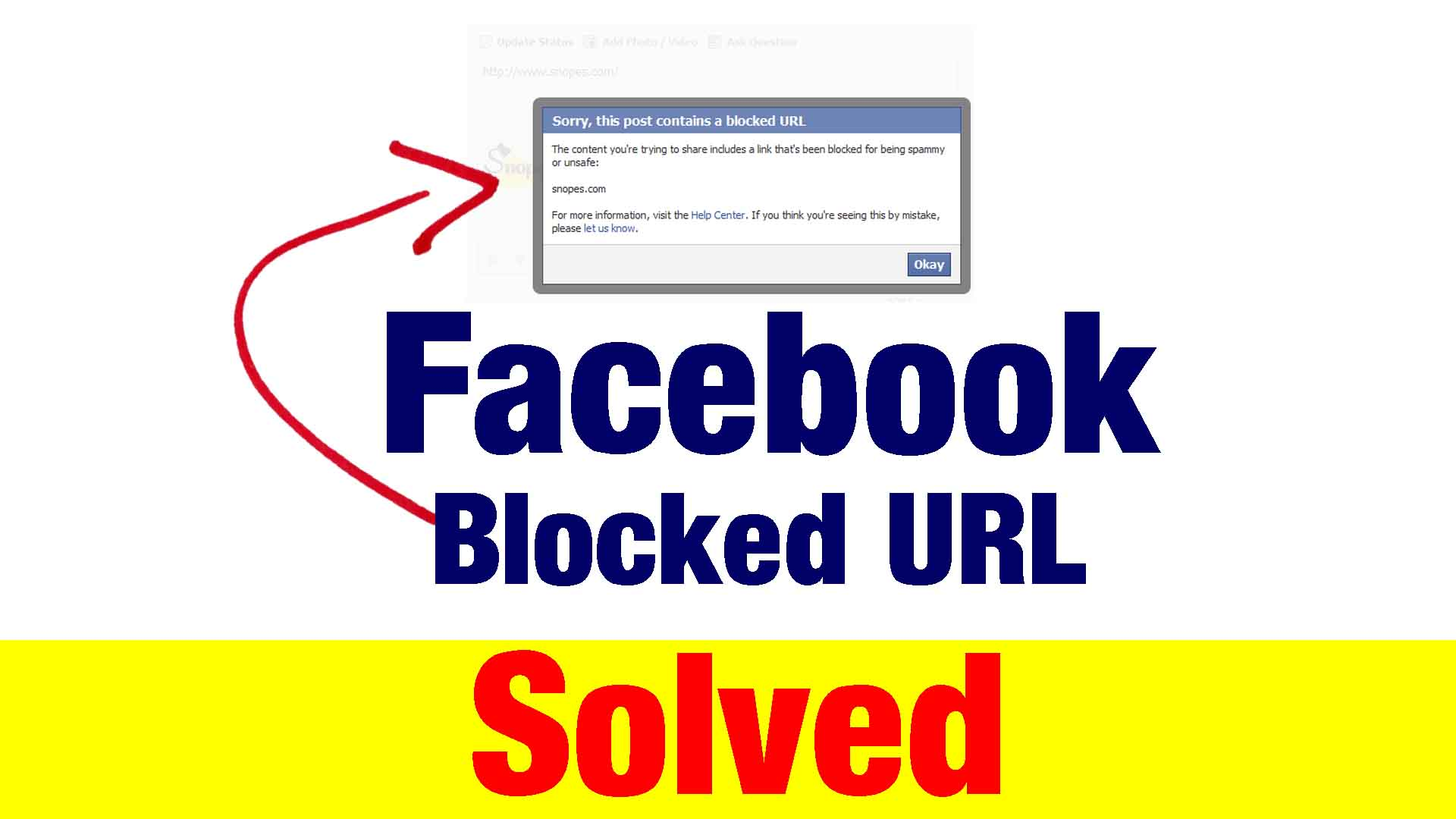 facebook url blocked